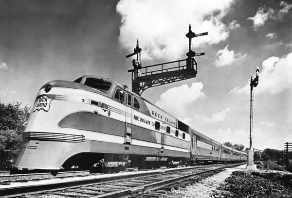 Rock Island Line Photograph - Rock Island Line Rocket Train by Underwood Archives