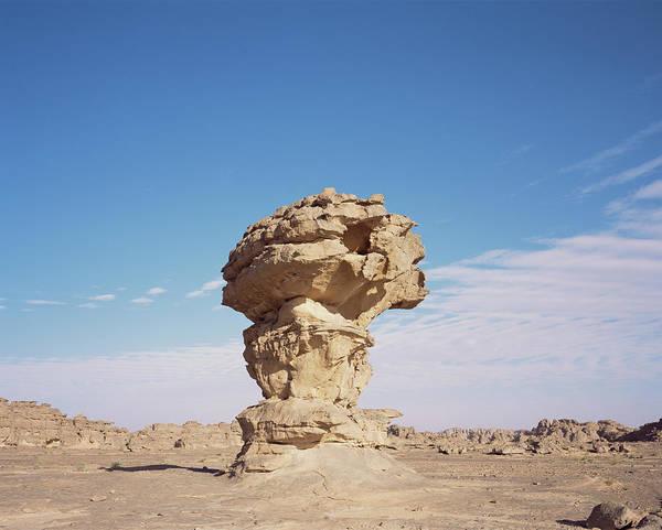 Sahara Photograph - Rock Pedestal by David Parker/science Photo Library