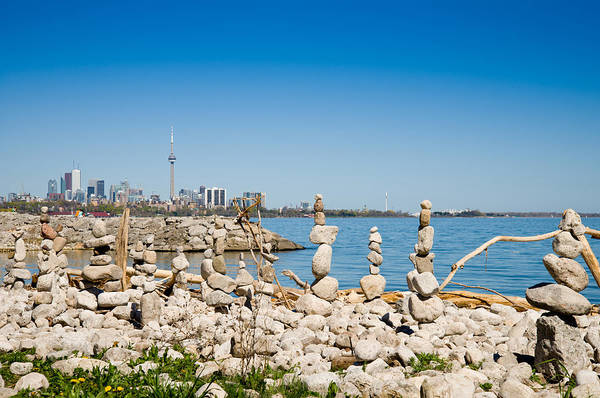 Cn Tower Photograph - Rock Stacks With Skylines by Panoramic Images