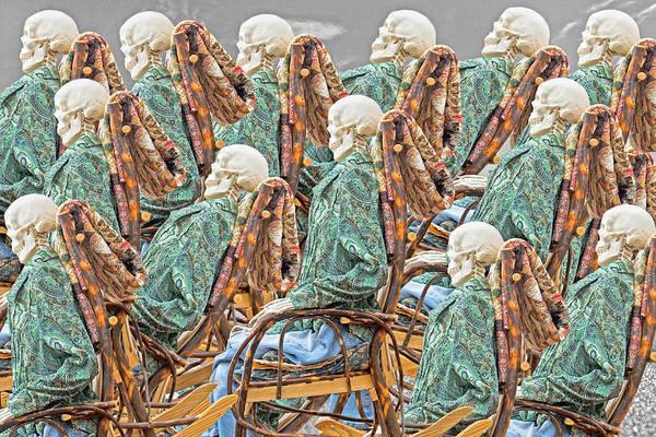 Chair Mixed Media - Rock The Bones by Betsy Knapp