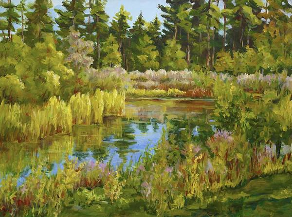 Painting - Rock Valley Pond Rockford Il by Ingrid Dohm