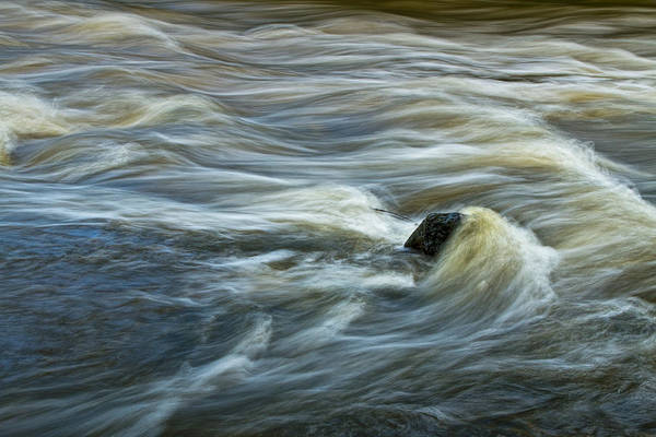 Photograph - Rock With Flowing Water In The Thornapple River by Randall Nyhof