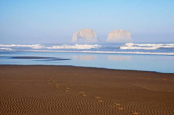 Rockaway Photograph - Rockaway Beach Twins - Oregon by Spencer McDonald