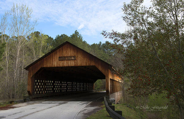 Photograph - Rockdale County Covered Bridge by Mike Fitzgerald