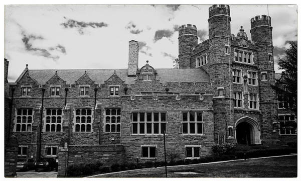 Uas Wall Art - Photograph - Rockefeller Hall - Bryn Mawr In Black And White by Georgia Fowler