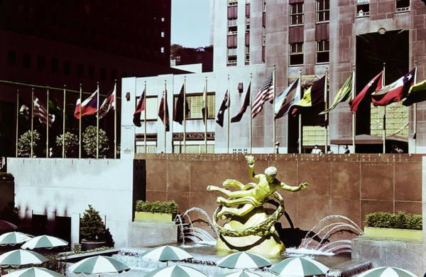 Photograph - Prometheus Rockefeller Plaza 1950 by Marilyn Hunt