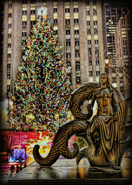 Wall Art - Photograph - Rockefeller Maiden Statue by Lee Dos Santos