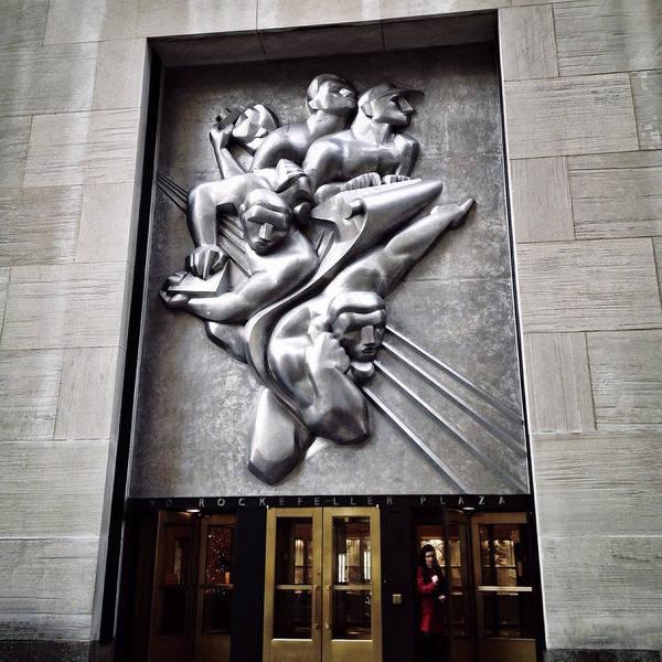 New York City Wall Art - Photograph - Rockefeller News by Natasha Marco