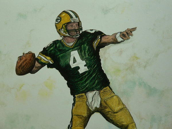 Painting - Rocket Favre by Dan Wagner