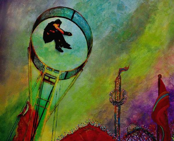Trapeze Painting - Rocket Man by Jill Jacobs
