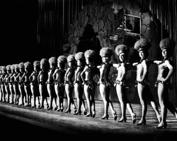 Radio City Music Hall Photograph - Rockettes Line Up On Stage by Retro Images Archive