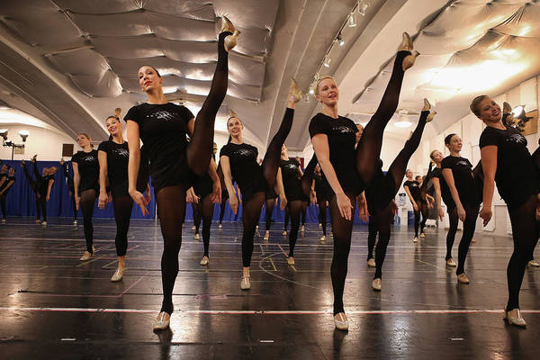 Rockettes Photograph - Rockettes Preview Annual Radio City by John Moore