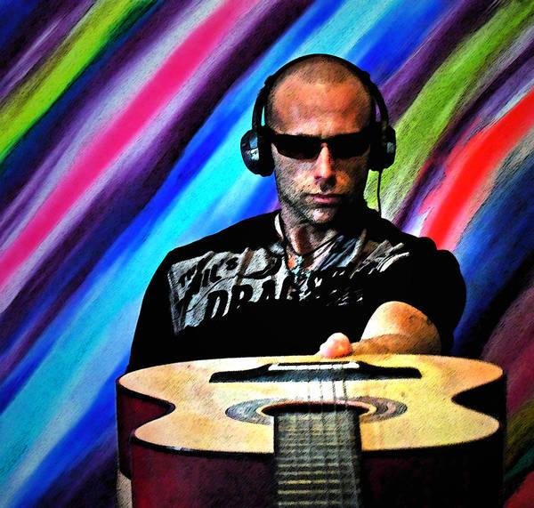 Photograph - Rockin With The Guitar by Cyryn Fyrcyd