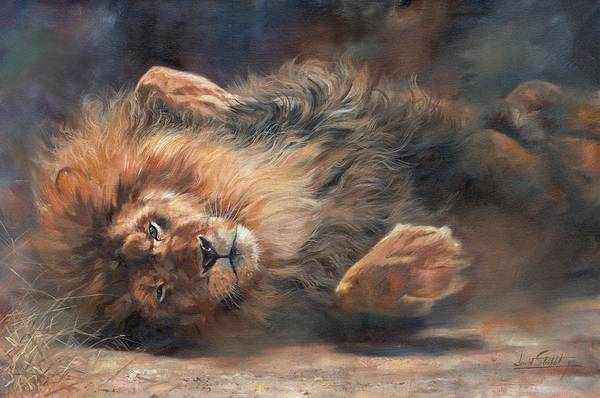 Big Cat Wall Art - Painting - Rocking And Rolling Part 2 by David Stribbling
