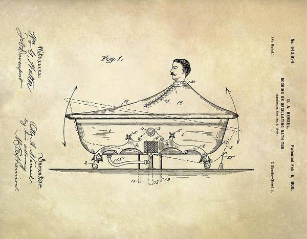 Bath Tub Photograph - Rocking Bathtub Patent by Us Patent And Trademark Office