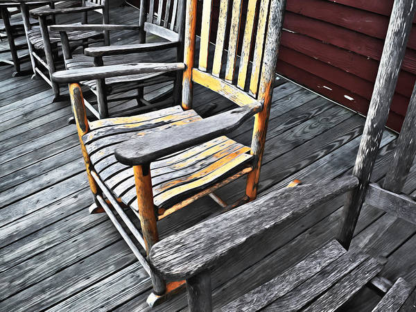 Digital Art - Rocking Chairs by Patrick M Lynch