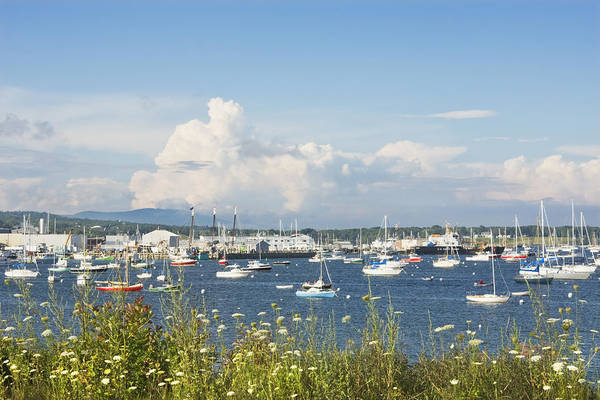 Stormcloud Photograph - Rockland Harbor On The Coast Of Maine by Keith Webber Jr