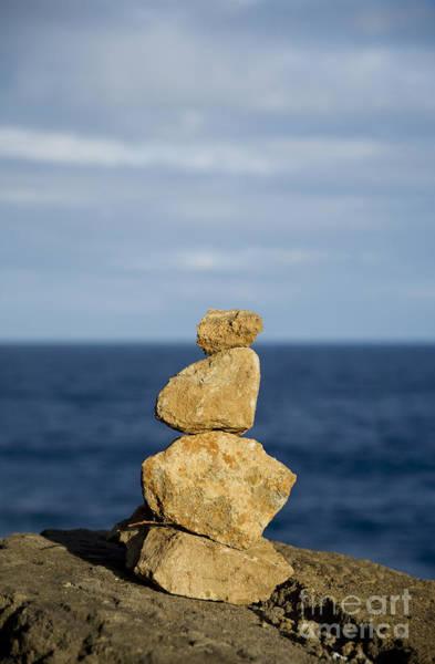 Photograph - Rockpile And Ocean by Charmian Vistaunet