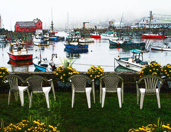 Photograph - Rockport Chairs by Sandy Scharmer