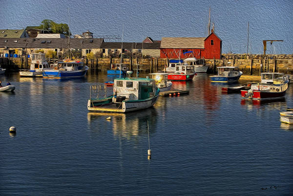 Photograph - Rockport Harbor No.3 by Mark Myhaver