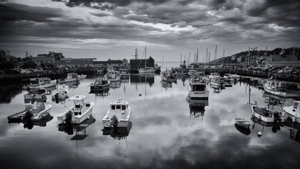 Wall Art - Photograph - Rockport Harbor View - Bw by Stephen Stookey