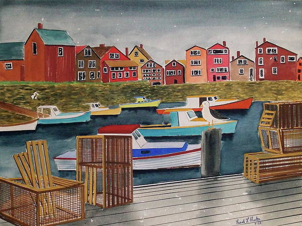 Painting - Rockport Maine by Frank Hunter