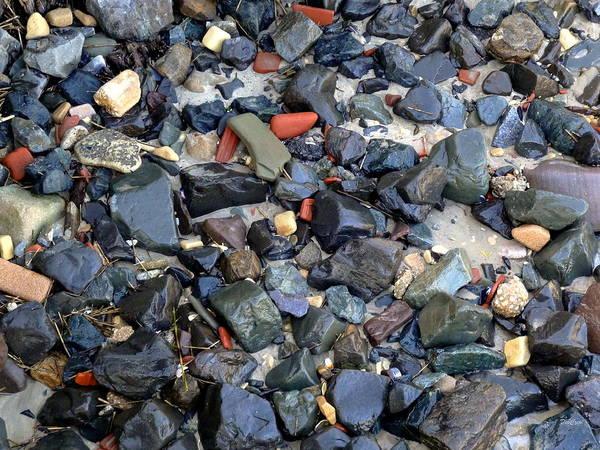 Turqoise Photograph - Rocks And Stones by Deborah  Crew-Johnson