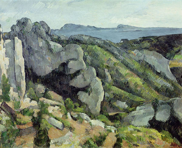 Impressionist Photograph - Rocks At Lestaque, 1879-82 Oil On Canvas by Paul Cezanne