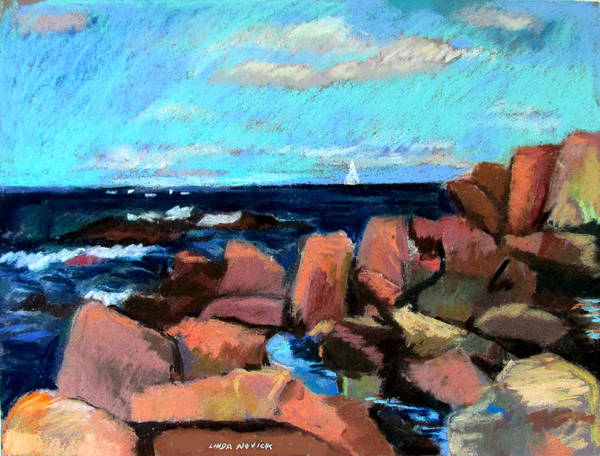 Painting - Rocks At Ogunquit by Linda Novick
