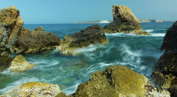 Gozo Wall Art - Photograph - Rocks In Sea by Wladimir Bulgar