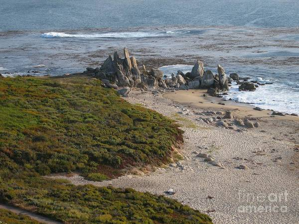 Photograph - Rocks On Carmel Bay by James B Toy