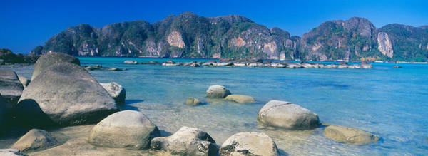 Rocks On The Coast, Phi Phi Islands Art Print