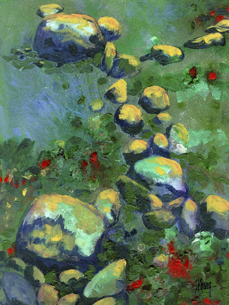 Painting - Rocks by Stan Kwong
