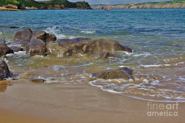 Photograph - Rocks Waves And Cliffs by Jeremy Hayden