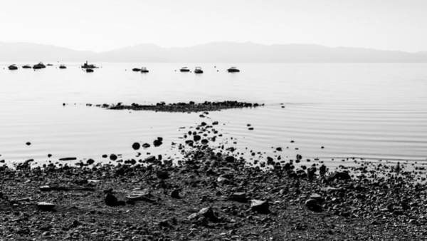Boat Silhouette Wall Art - Photograph - Rocky Beach by Chad Dutson