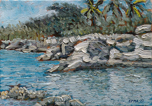 Painting - Rocky Bluff by Ritchie Eyma