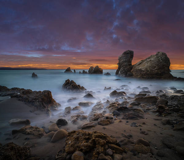 Del Photograph - Rocky California Beach - Square by Larry Marshall