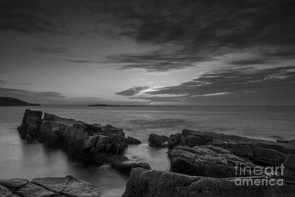 Michael Photograph - Rocky Coast Of Maine Bw by Michael Ver Sprill