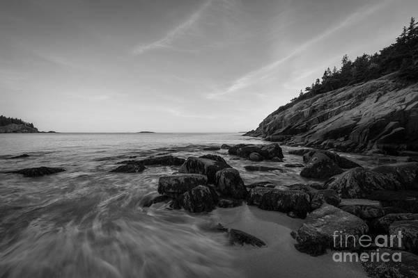 Mv Photograph - Rocky Coastline Bnw by Michael Ver Sprill