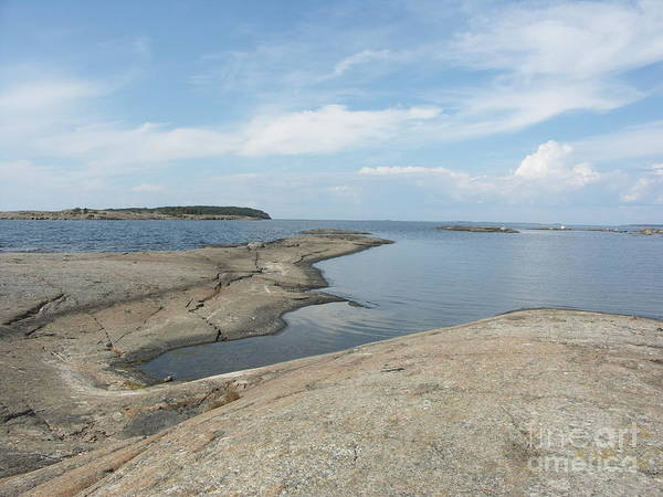 Rocky Coastline In Hamina Art Print
