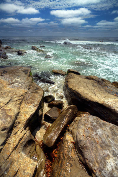 La Jolla Photograph - Rocky Cove by Peter Tellone