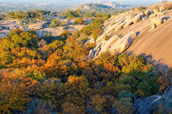 Photograph - Rocky End To A Day Enchanted Rock Texas Hill Country by Silvio Ligutti