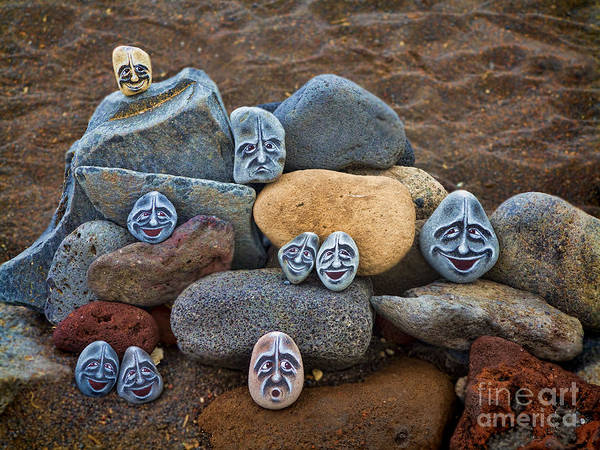 Smith Rock Photograph - Rocky Faces In The Sand by David Smith