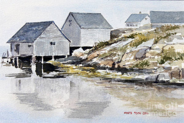 Painting - Rocky Inlet by Monte Toon
