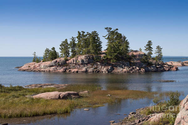Photograph - Rocky Island In Georgian Bay Ontario by Les Palenik