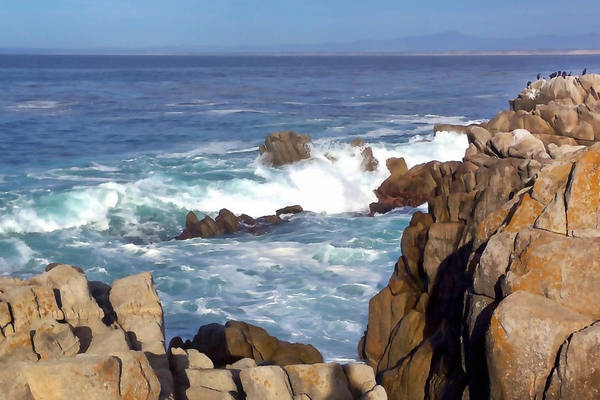 Monterey Bay Photograph - Rocky Monterey Coast by Art Block Collections