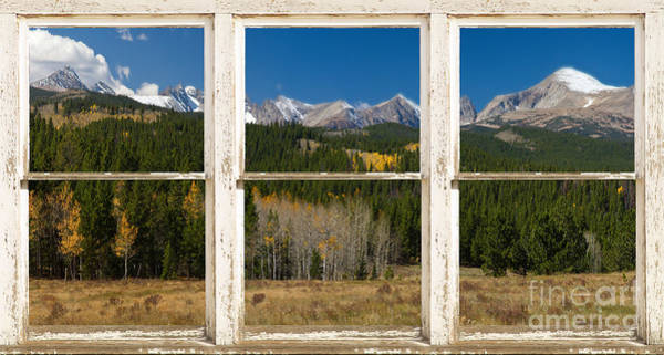Unframed Wall Art - Photograph - Rocky Mountain Continental Divide Rustic Window View by James BO Insogna