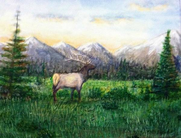 Crazy Mountains Painting - A King And His Kingdom by Larry Lamb