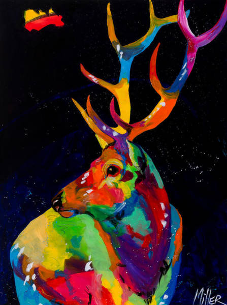 Colorado Wildlife Wall Art - Painting - Rocky Mountain Elk by Tracy Miller