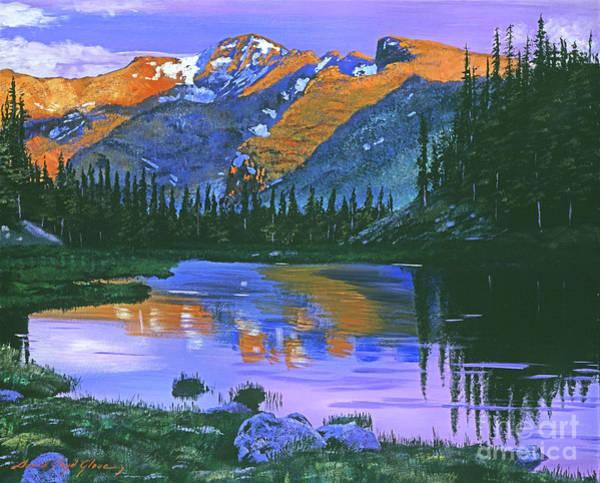 Mountain Lake Painting - Rocky Mountain Lake by David Lloyd Glover